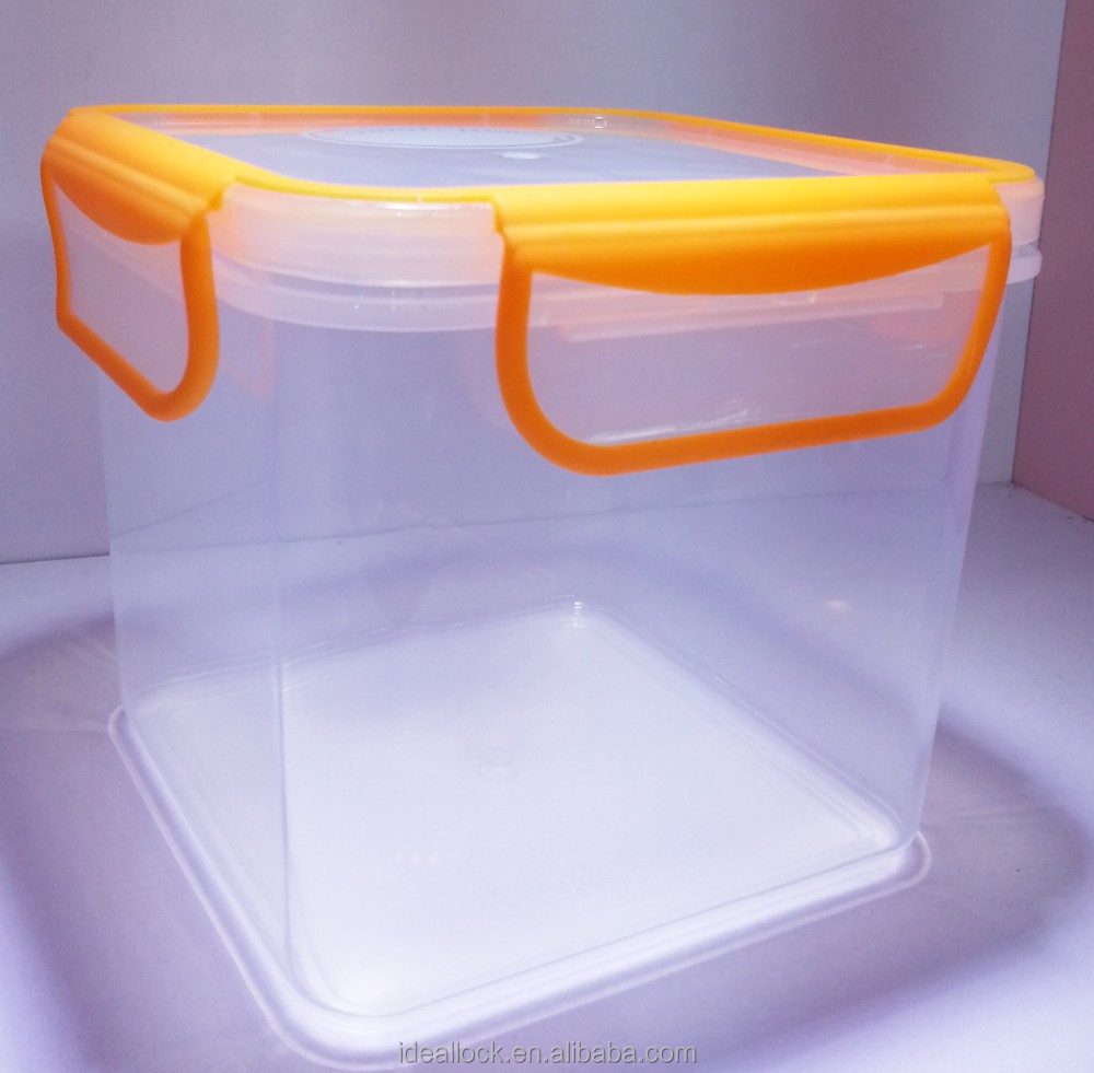 airtight plastic food storage container with 4 locks