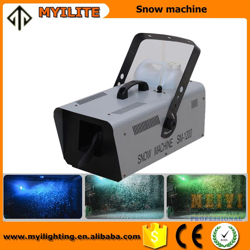 Good effect dmx/remote control snow maker stage snow machine for wedding decoration