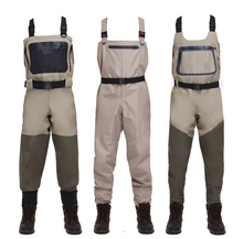 Men's 5 layers 3 layers chest camo breathable fishing waders