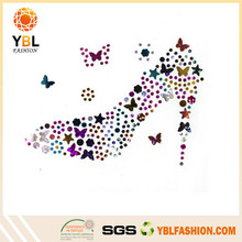 Alibaba Hotfix Various Color Garment Accessory High Heels Flat Back Acrylic Rhinestone Motif