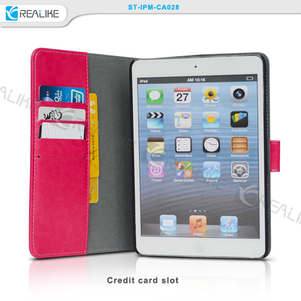 Card slots leather tablet case for ipad air 2