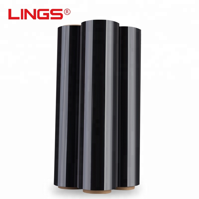 LLDPE Black plastic Shrink Wrap <strong>Film</strong> Pallet Stretch <strong>Film</strong> 500mm*25um*400m