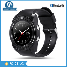1.22 inch HD full circle display V8 touch screen smart watch Bluetooth music player