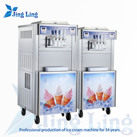 high quality soft ice cream machine with pre-cooling system for sale