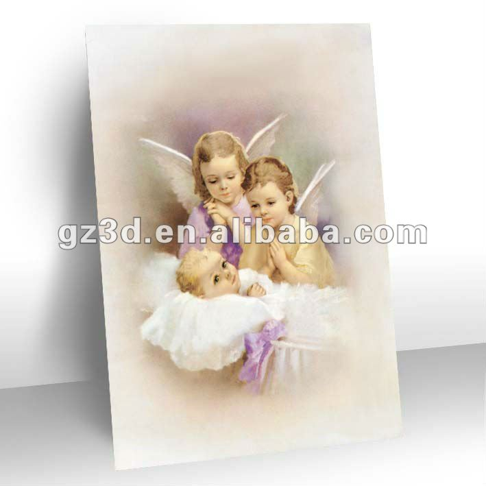 Hot selling lenticular 3d religious pictures of angel decoration (OR-069)