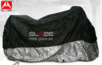 Foldable cover for motorcycle for dust and rain in polyester taffeta fabric