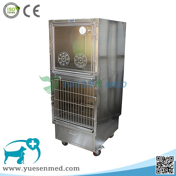 YSVET610B Hot sale stainless steel veterinary oxygen dog cage