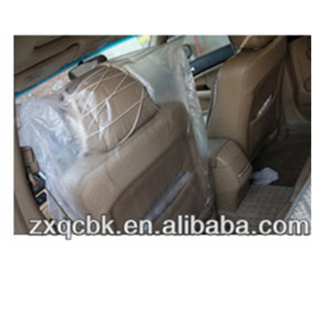 Chinese factory thicken and lengthen plastic disposable car seat cover Used to keep the car clean