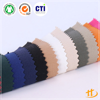 Twill Yarn Dyed Shirting Fabric 60% Polyester 35% Cotton 5% Spandex