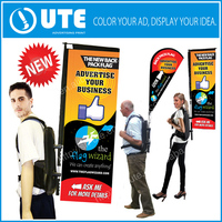 Backpack Billboard Flag Banner,Backpack Banner Rectangle Shape