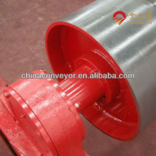 Hot-sale blue conveyor turning rubber pulley/drum for cement by Chinese largest manufacturer near beijing