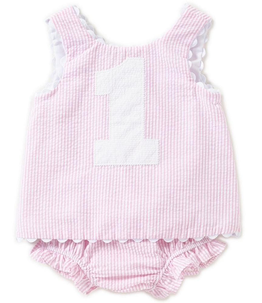 Wholesale lovely pink children's boutique clothing Spanish baby lace trim clothes of Girls stripe romper
