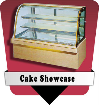 single curve commercial bakery refrigerated display cake showcase