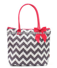 custom canvas chevron tote bag wholesale manufacturers
