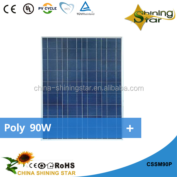 2017 High efficency best price poly 90Wp solar panels 100Wp 130Wp 140Wp 150Wp 230Wp solar for home
