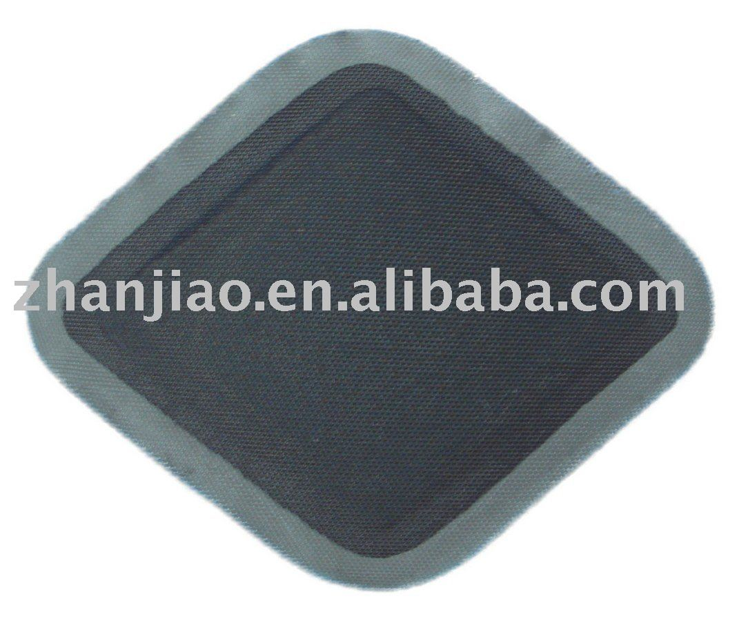 rubber repair patch with reinforced layer for conveyor belt cold vulcanizing repair