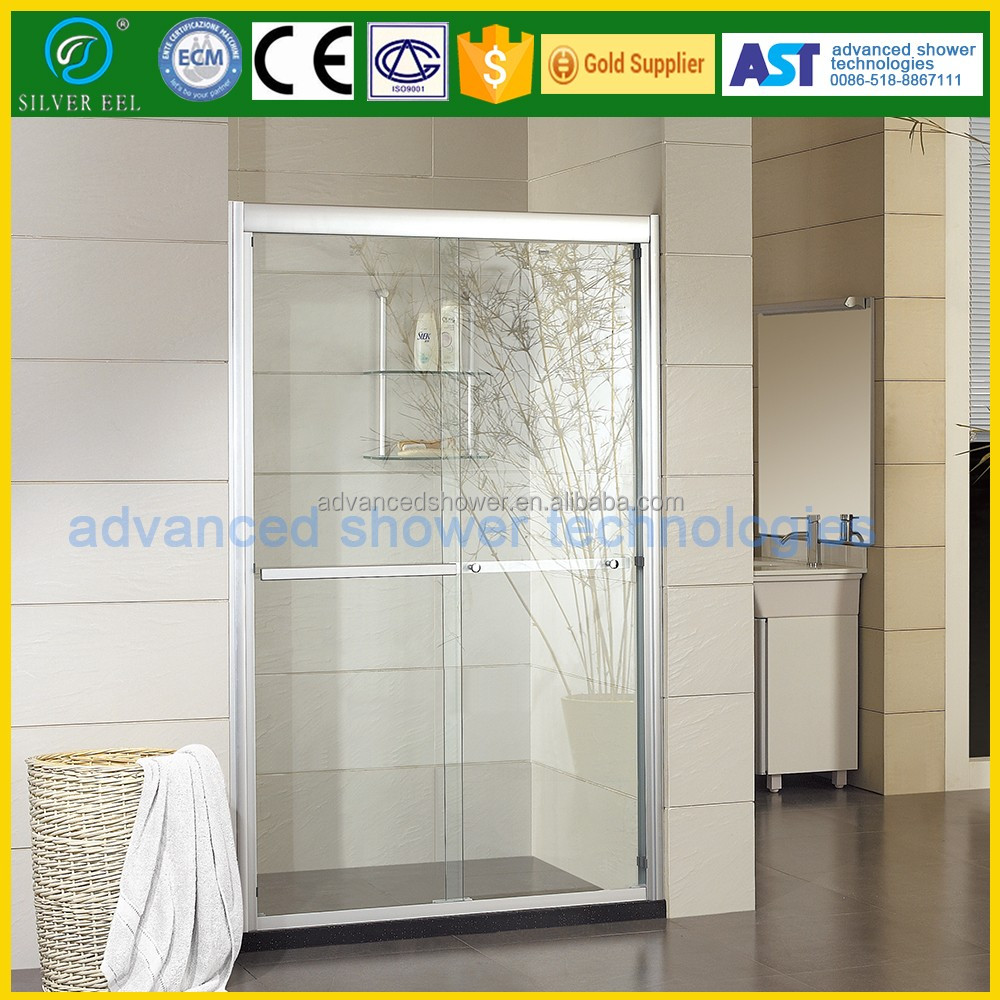 acrylic plastice sliding shower door for small bathroom design
