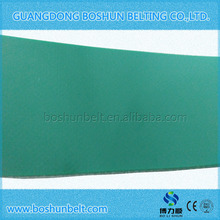 2mm green flat pvc conveyor belt for general industry
