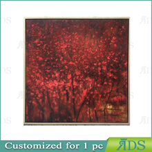 Framed handmade flower painting wall pictures for living room for home decoration