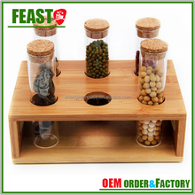 2015 best selling decorative kitchen wooden spice rack