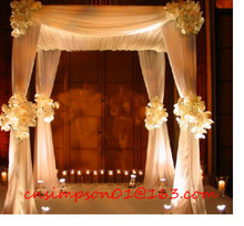 white chiffon drape wedding ceiling drape for wholesale