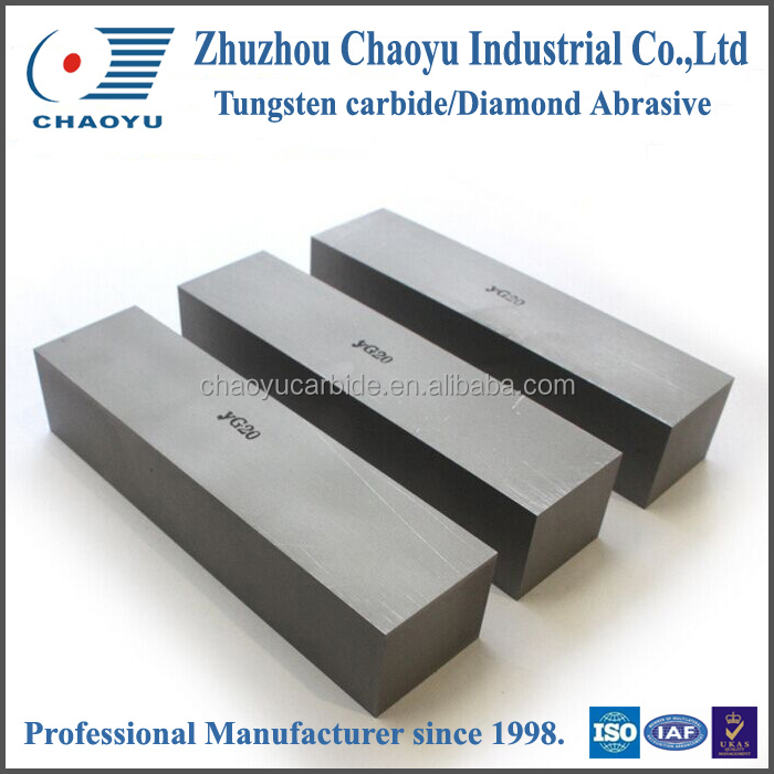 Tungsten carbide flat strip used to make woodworking tools/carbide wear resistant strips with thread holes for steel works.
