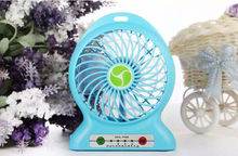 Useful Portable Summer Cool Mini Fan Strong Wind Desk Table USB Electric Rechargeable Fans For Indoor &Outdoor Camping Traveling