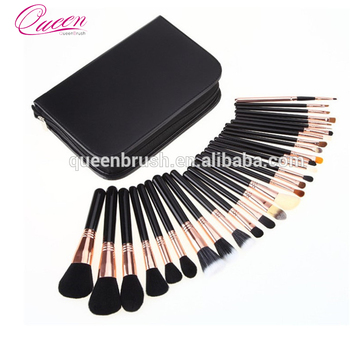 Hot new product custom professional 29pcs rose gold high quality cosmetic makeup brush set