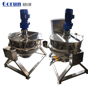 Stainless Steel Industrial Double Layer Gas Or Electric Steam Jacket Kettle, Sugar Cooking Machine