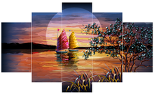 modern nice sea scenery print beautiful wall painting home decorated oil painting