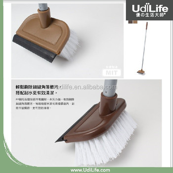 Floor Cleaning Brush with Scraper