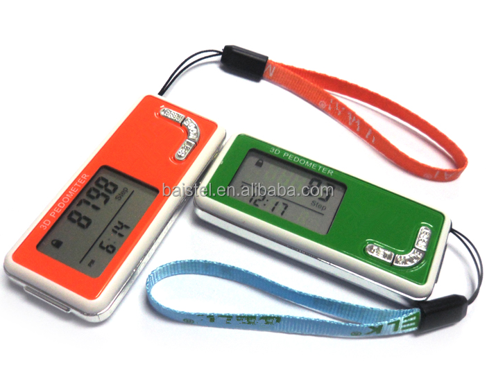 3D walking pedometer with 7 days memory function