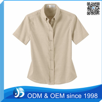Custom Button Down Oxford Shirt Model Tops for Women