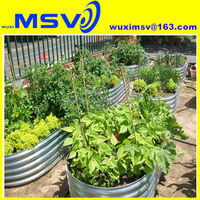 Raised bed container herb garden