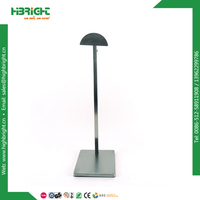 zinc plated metal hanging hat/cap display rack