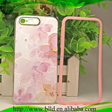 Flash Hybrid PC+silicone bumper glow in the dark silicone cell phone case for Iphone 5