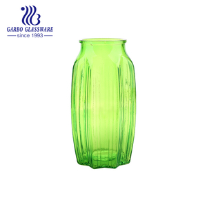 Wholesale decorative tall vintage bright green flower glass vase GB1574H/P