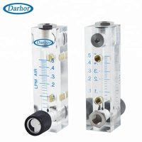 DARHOR DFG-6T high performance acrylic low flow rate gas air flow meter