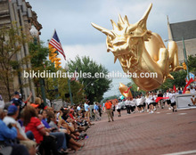 giant inflatable helium gold dragon/ 20m long inflatable flying gold dragon