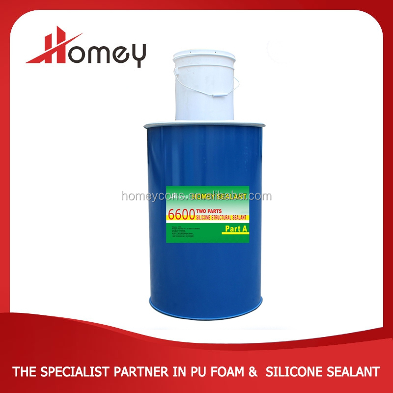 Homey 6600 two parts high quality large glass silicone good insulation glue