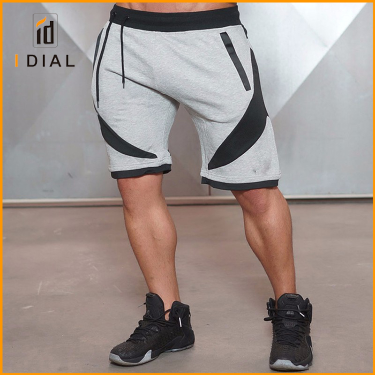 2017 NEW summer mens jogger trousers knee length slim fit workout gym shorts