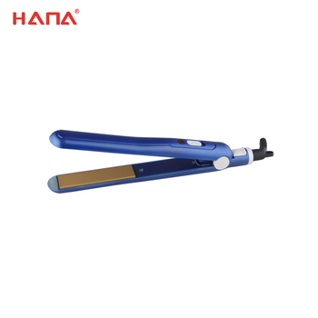Hair flat iron with plate lock function
