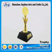 Business Use and Europe Regional Feature Custom Shape Made Round Trophy Shiny Gold Trophy for Big Conference