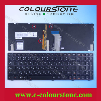 New brand Laptop keyboard for Lenovo Y580 RU Black with backlit RUSSIA layout