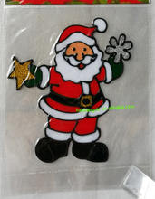 Motion Santa Claus christmas sticky window decoration easy remove stickers