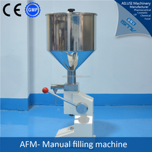 Table top manually paste filling machine