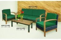 Teak Sofa Set combination with rattan synthetic