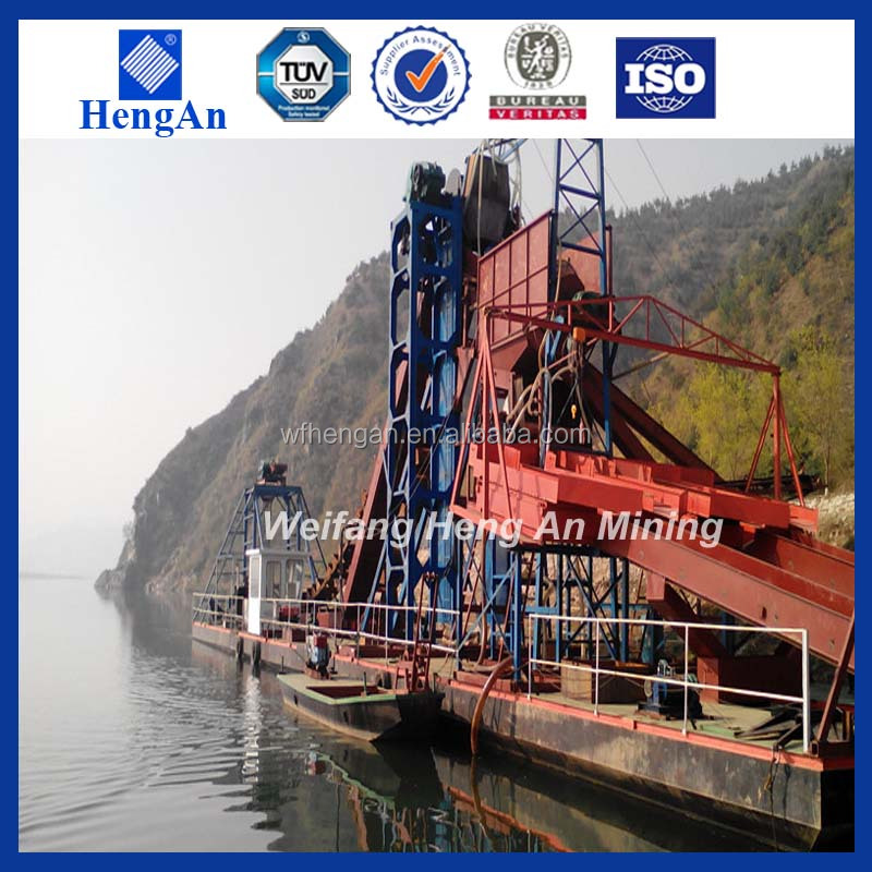 mini chain bucket dredge for gold mining