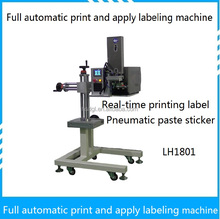Full automatic print and apply labeling machine Real-time printing label pneumatic paste sticker labeling machine