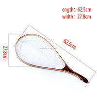 Factory price Wooden hand Trout rubber fishing landing net